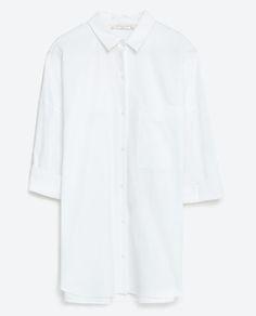 OVERSIZED POPLIN SHIRT-Shirts-TOPS-WOMAN   ZARA United States