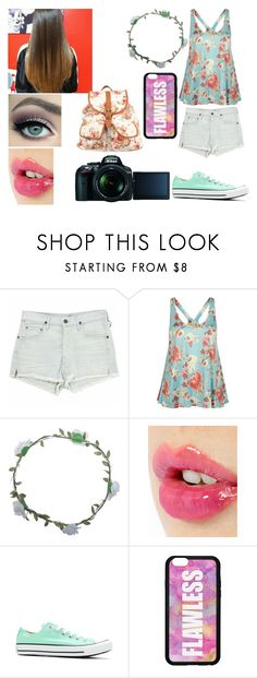 """""""enjoying florals too much"""" by kitty-cat-queen ❤ liked on Polyvore featuring Citizens of Humanity, Full Tilt, Wet Seal, Charlotte Tilbury, Converse, Nikon, 1&20 Blackbirds and floral"""