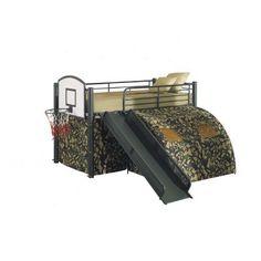 Camoflauge Loft Bed w/slide