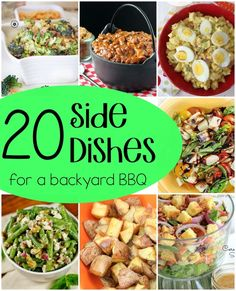 A roundup of 20 great recipes that would be perfect side dishes for a BBQ or backyard party!
