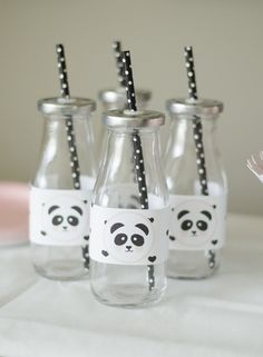 Pink Cheeks Panda Bear Party — Little Lemon Design Co. Panda Themed Party, Panda Birthday Party, Kids Birthday Themes, Girl Birthday Decorations, Panda Party, Baby Birthday Cakes, Bear Party, Birthday Supplies, Bear Birthday