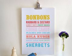 A fantastic nostalgic print which makes a fun gift. Available in a selection of colours and sizes, framed or unframed.