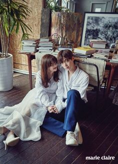 Marie Claire Korea Releases Final Four Romantic Wedding Pictures of Ahn Jae Hyun and Gu Hye Sun Korean Couple, Best Couple, Asian Actors, Korean Actors, Gu Hye Sun, Cinderella And Four Knights, 7 Arts, W Two Worlds, Kim Sejeong