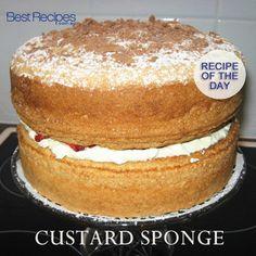 Custard and sponge cake are a match made in heaven #cake #recipe #custard #sponge