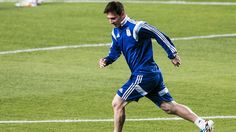2014 FIFA World Cup™ - Photos - FIFA.com  Lionel Messi of Argentina controls the ball during a training session