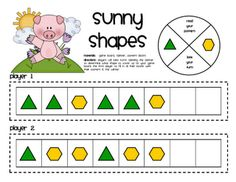 Sunny Shapes game -- complete the pattern using pattern blocks
