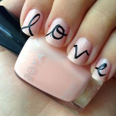 Get Inspired Valentine's Day Nail Art Ideas light pink nails Fan Nails, Love Nails, How To Do Nails, Pretty Nails, Graffiti Nails, Valentine Nail Art, Manicure Y Pedicure, Cute Nail Designs, Holiday Nails