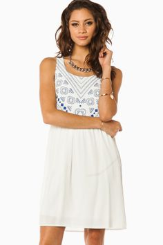 ShopSosie Style : Just My Luck Dress in Ivory