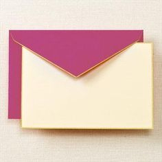 Gold Hand Bordered Correspondence Cards & Envelopes