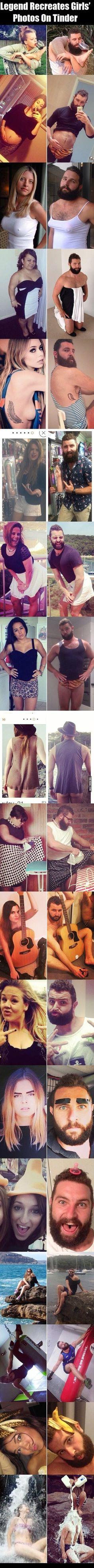 Legend recreates girls photos on tinder...