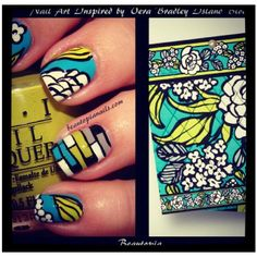 """Vera Bradley nails (I have to say I can't take credit for this, I found the picture on instagram """"verabradleyoffical"""" and had to share it!)"""