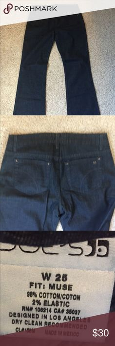 "Joe's Jeans! Fit is ""Muse"" bit of a flared leg. Darker wash Joe's Jeans Jeans Flare & Wide Leg"