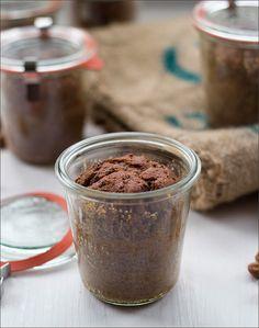 Adventsgebäck: Schoko-Gewürz-Kuchen im Glas - kulinarische Weihnachtsgeschenke