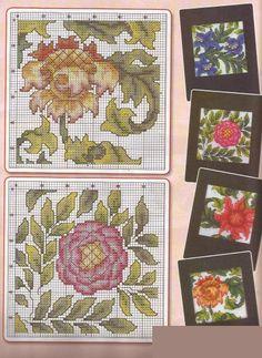 cross-stich pattern,flowers,  (3/2)
