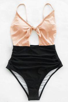 Cupshe Sweet Honey Bowknot One-piece Swimsuit #swimwear#style#woman#beauty