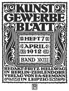 Peter Behrens - Kunstgewerbeblatt 1912