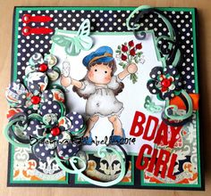 Hipp hipp Hurra Tilda Birthday card Magnolia
