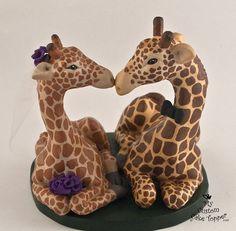 Giraffes in Love Custom Wedding Cake Topper by MyCustomCakeTopper, $150.00