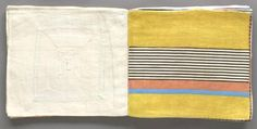 "... WITH FABRIC SCRAPS INTO THE BOOK ""ODE A L'OUBLI"" BY LOUISE BOURGEOIS"