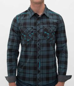 21588a05e34 Rock Revival Wood Shirt - Men s Shirts in Cyan
