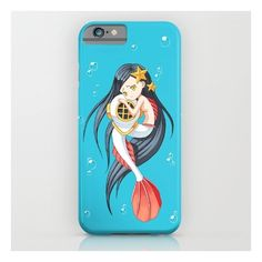 Mermaid iPhone 6s Case ($35) ❤ liked on Polyvore featuring accessories, tech accessories, iphone & ipod cases and comic book