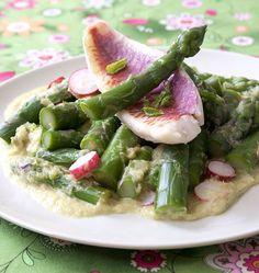 Salade d'asperges vertes aux rougets - Ôdélices : Recettes de cuisine faciles et originales !