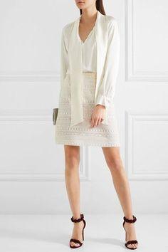 Giambattista Valli - Cotton-blend Lace Skirt - Ivory - IT40