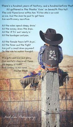 8 seconds...good ol cowboys. Love little cowboys!