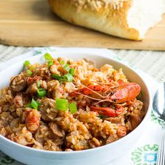 This easy-to-make Crawfish Jambalaya is a filling meal with plenty of spice. Mahatma White Rice is mixed with onions, celery, bell peppers and tomato paste to create a lot of flavor.
