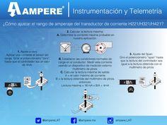 ¿Cómo ajustar el rango de amperaje del transductor de corriente H221/H321/H421? #GuiaRapida #Ampere #Tips #Soluciones #telemetría #Ajustes