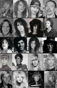 gnr - through the years..............
