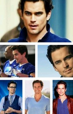 The top photo of this collage SCREAMS *Christian Grey* OMG