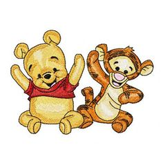 Baby pooh and baby tiger 3 machine embroidery design - Live Wallpapers Baby Disney Characters, Kids Cartoon Characters, Cartoon Kids, Winnie The Pooh Honey, Winnie The Pooh Friends, Bernina Embroidery Machine, Machine Embroidery Patterns, Pooh Bear, Tigger