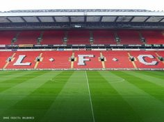 Home to Liverpool FC, Anfield is famous across the globe for its stunning atmosphere especially on big game nights. The Spion Kop behind the goal makes it one of the most celebrated stands in the world of football.
