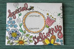 AHG Pen Pals Ideas: Have fun Decorating your envelope to send to your pen pal.