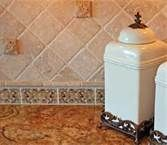 Travertine Kitchen Backsplash Ideas rendering of the
