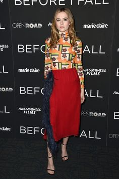 """Actress Zoey Deutch attends the Before I Fall"""" New York Special Screeing at Landmark Sunshine Cinema on February 28, 2017 in New York City."""