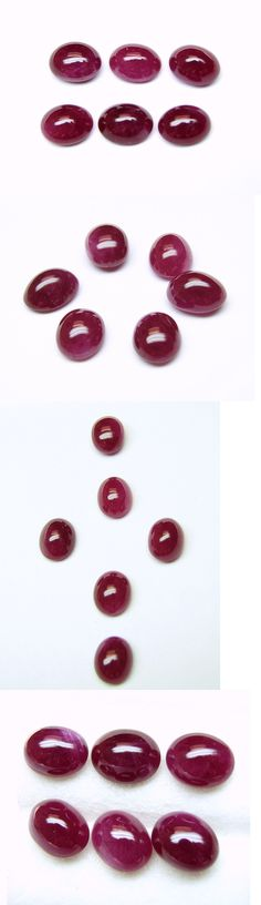 Natural Rubies 3827: 17.88 Cts Tol,Natural Gems Lot / 6 Pcs Oval Cabochon Ruby 9X7x4.4 Mm Approx. -> BUY IT NOW ONLY: $559.5 on eBay!