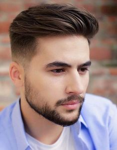 65 Ideas Hairstyles For Men Short Beard Styles mens style Mens Hairstyles With Beard, Cool Hairstyles For Men, Hairstyles Haircuts, Haircuts For Men, Haircut Men, School Hairstyles, Hairstyle Ideas, Office Hairstyles, Anime Hairstyles