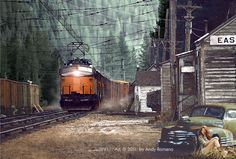 Railroad Pictures, Milwaukee Road, Train Art, Rolling Stock, Electric Locomotive, Western Movies, Art Pages, Canada, Usa