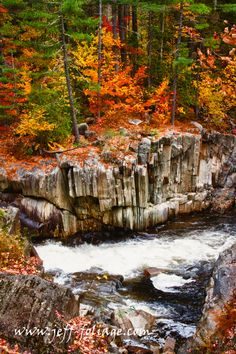 Maine's Coos Canyon - New England fall foliage