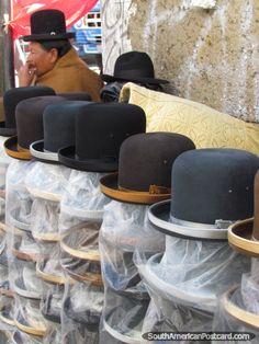 A woman sells hats to the hat ladies of La Paz, Bolivia. Photo: Mark Berman