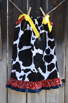 Cowgirl (Jessie from Toy Story) Pillowcase Dress. $20.00, via Etsy.