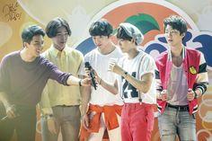 140712 Winner and Fanta #winner #jinwoo #seungyoon #seunghoon #mino #taehyun #kpop #YG