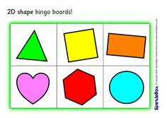 A set of 6 printable bingo boards featuring colourful shapes. Eal Resources, Teacher Resources, Free Preschool, Preschool Kindergarten, Bingo Board, Shapes For Kids, Shape Matching, Preschool Activities, Games To Play