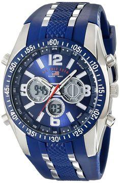 d2629cf58c1 U.S. Polo Assn. Sport Men s US9284 Blue Analog-Digital Chronograph Watch  Brand Name Watches