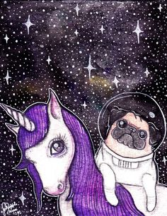 Pug + Unicorn = AWESOMENESS
