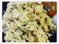 """ちくわで和風ポテサラ """"Potato Salad with Fish Sausage"""" @500  1900pm - 0230am  ph. 09078778319 #西宮 #今津 #バー #禁煙"""