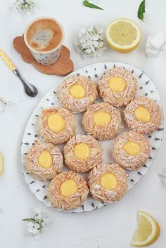 Biscuits empreintes au lemon curd