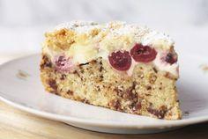 Schoko - Kirschkuchen mit Cheesecake - Schicht und Streuseln